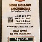 Hogs Hollow Smokehouse Menu