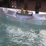 Our brand new outdoor hot tub (August 2016)