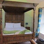 Huge 4 poster bed in room 7
