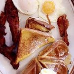 waffles and french toast platter