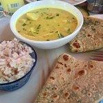 Best pinapple curry so far ...flavor beautiful, colour amaizing , enviroment perfect.  Vegan mea