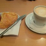 Coffee and scone!