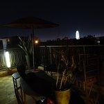 une des terrasse sur le toit