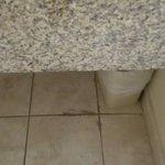 Floor in the bathroom