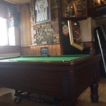Pool table at the bar area