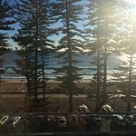 Morning view from the oceanfront rooms