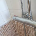 Water spraying from shower control