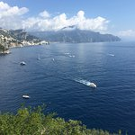 The view from the room back to Amalfi