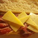 Bocadillo de jamon y pie de limon 👍👏👏
