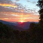 Sun Rise from Lake Junaluska view point