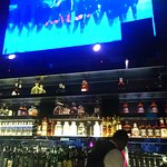 The screen at the bar is great - awesome videos