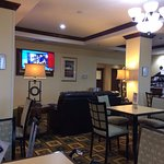 Holiday Inn Express Childress--TV in the restaurant
