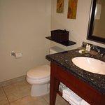 Nice size washroom.
