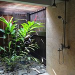 Orchid Room - semi-outdoor shower - Awesome!