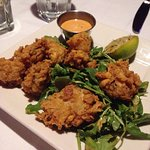 Fried oysters, so yummy! Also, the crab and shrimp bisque is to die for!