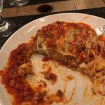 LASAGNE VERDI Huge layers of homemade pasta, meat sauce, béchamel sauce and Parmesan cheese