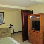 room with king bed. Basic but spacious and clean. large closet