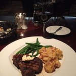 Filet with au gratin potatoes and a Cabernet. Very good.