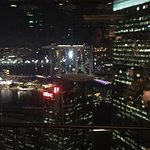 Evening spectacular view of the MBS - a cosy bar outdoor and indoor for dinning : Superb !!