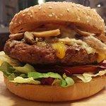 Elvis burger with mushrooms