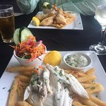 Beautiful meal of Coorong Mullet. Friendly helpful staff. Clean, comfortable, nice tablecloths-