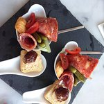 Delicious appetisers with cornichons and cold meats