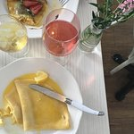 The lemon crepes and a glass of rose are always a perfect finish.