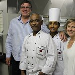 Luke, Sid, Ali and Pastry Chef