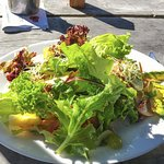 Delicious salad lunch at The Court House Cafe, Collingwood, New Zealand