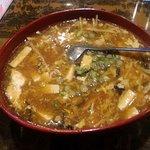 Hot and sour noodles soup