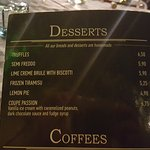 desserts prices