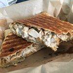 Luscious chicken bacon ranch panini wrap.