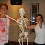 Diana & Linda with their lovely assistant after a therapeutic yoga workshop.