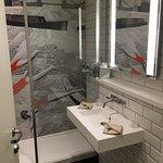 Shower & Sink.