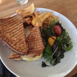 Brie, Bacon and Cranberry Toastie