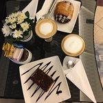 Amazing latte and the deserts were delicious!  Bonus, free fast wifi.