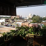 vue du taj depuis la terrasse ombragée
