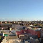 Magnifique vue sur l'Atlas de la Terrasse du Riad