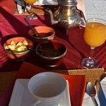Composition du petit déjeuner, délicieux et traditionnel