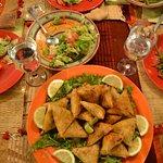 Repas proposé par le Riad, délicieux