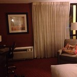 While this hotel seems more for a business oriented stay our room was big, very nice bed, sheets
