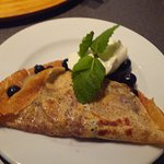 Bannana and Blueberry crepe