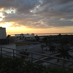 Sunset view from rooftop bar