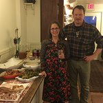 A fabulous Thanksgiving dinner prepared by the new owners, Dana and Jay!