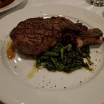 My fav special perfectly cooked rib eye steak Italiano $29.95 w/broccoli rabe and cherry peppers