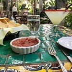 Chips, salsa and margarita