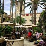 The main patio of Las Campanas