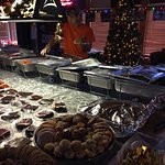 Buffet and some desserts and cookies