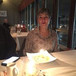 Birthday Girl with candle in her Crepe Suzette