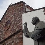 Exterior and statue of Pope John Paul II